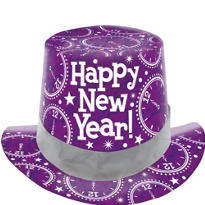Purple Prismatic Top Hat