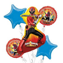 Foil Power Rangers Balloon Bouquet 5pc