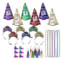 Midnight Countdown Jewel New Years <span class=messagesale><br><b>Party Kit For 25</b></br></span>