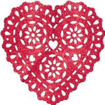 Glitter Plastic Heart Decoration 11in