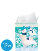 Small Jolly Snowman Gift Bags 5 1/2in 12ct