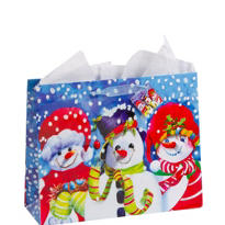 Large Snowmen Gift Bag 12in