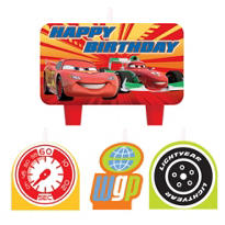 Cars Birthday Candles 4ct