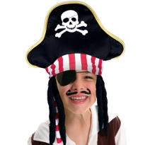Child Pirate Hat with Hair Deluxe