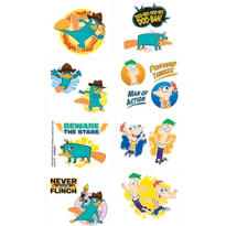 Phineas and Ferb Tattoos 1 Sheet