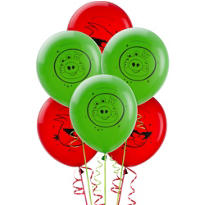 Latex Angry Birds Space Balloons 12in 6ct