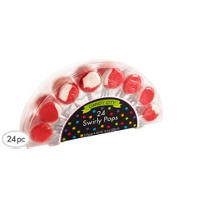 Swirly Red Lollipops 24ct