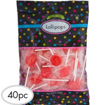 Red Lollipops 48pc