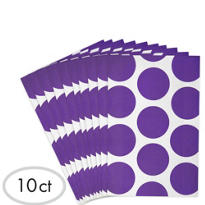 Purple Dot Paper Favor Bags 10ct
