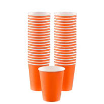 Orange Paper Coffee Cups 12oz 40ct