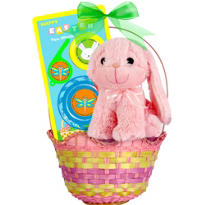 Premade Pink Bunny Easter Basket 15in
