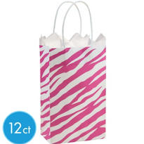 Pink Zebra Print Mini Gift Bag 12ct
