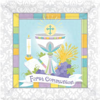 Joyous Communion Dinner Plates 18ct