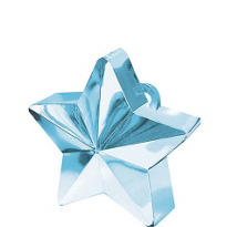 Light Blue Star Balloon Weight 6oz