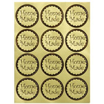 Gold Homemade Sticker Seals 24ct