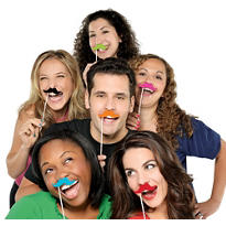 Moustache Photo Props 6ct