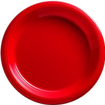 Red Plastic Dinner Plates 20ct