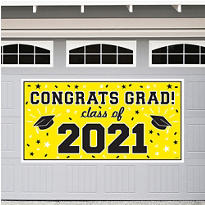 Yellow 2014 Graduation Banner