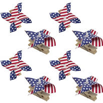 American Flag Pinwheel Clips 8ct
