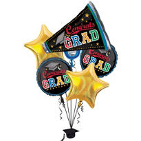 Foil Made the Grade Graduation Balloon Bouquet 5ct