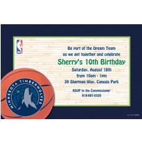 Minnesota Timberwolves Custom Invitation