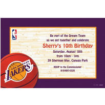 Los Angeles Lakers Custom Invitation