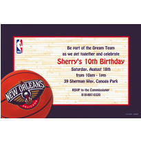 New Orleans Pelicans Custom Invitation