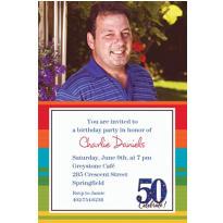 A Year to Celebrate 50 Custom Photo Invitation