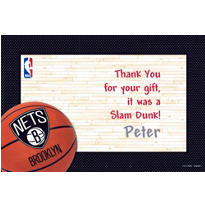 Brooklyn Nets Custom Thank You Note