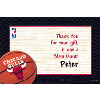 Chicago Bulls Custom Thank You Note