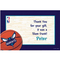Charlotte Hornets Custom Thank You Note