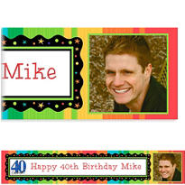 Custom A Year to Celebrate 40th Birthday Photo Banner 6ft