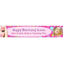 Barbie Custom Photo Banner 6ft