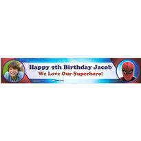 Spider-Man Custom Photo Banner 6ft