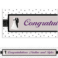 Black & White Wedding Custom Banner 6ft