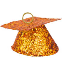 Orange Glitter Graduation Balloon Weight 6oz