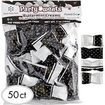 Black Polka Dots Party Mints 50ct