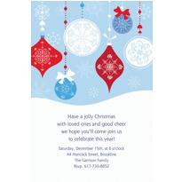Novel Ornaments Custom Christmas Invitation