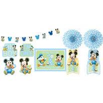 Mickey Mouse 1st Birthday Room Decorating Kit 10pc