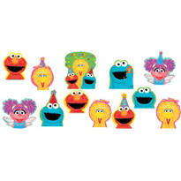 1st Birthday Sesame Street Cutouts 12ct