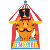 1st Birthday Fisher-Price Circus Invitations 8ct