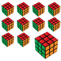 Dotted Puzzle Cubes 24ct