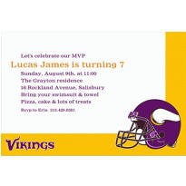 Minnesota Vikings Custom Invitation