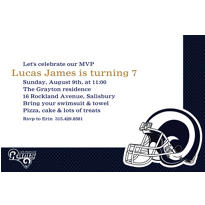 St. Louis Rams Custom Invitation