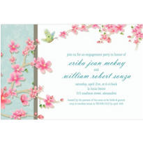 Cherry Blossom Love Custom Wedding Invitation