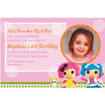 Lalaloopsy Custom Photo Invitation