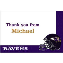 Baltimore Ravens Custom Thank You Note