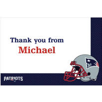 New England Patriots Custom Thank You Note