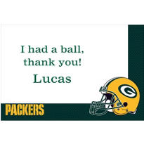 Green Bay Packers Custom Thank You Note