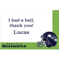 Seattle Seahawks Custom Thank You Note